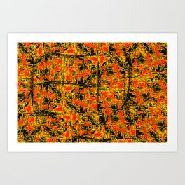 Golden Red Art Print