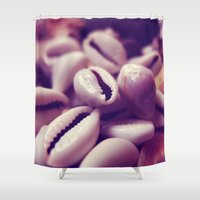 shells Shower Curtains featuring Shells by Rafael&Arty