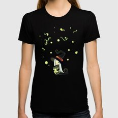 Fireflies Womens Fitted Tee Black X-LARGE