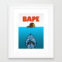ape Framed Art Prints featuring APE by Mike Nieuwstraten