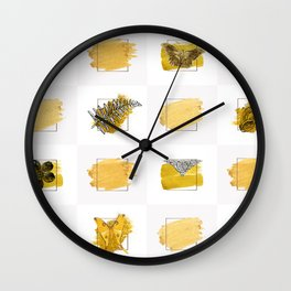 in gold Wall Clock