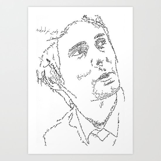 Matthew Bellamy WordsPortrait Art Print