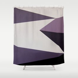 Dazzle Ship Camouflage Graphic Design (Detail) Shower Curtain