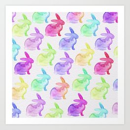 Watercolor Bunnies 1B by Kathy Morton Stanion Art Print