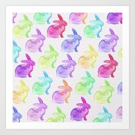 Watercolor Bunnies 1B by Kathy Morton Stanion Art Print