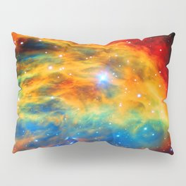 Rainbow Medusa Nebula Pillow Sham
