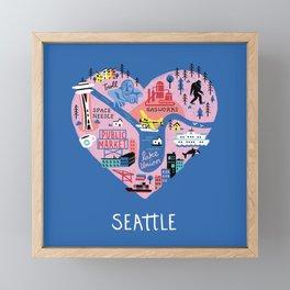 Seattle Mini Framed Mini Art Print