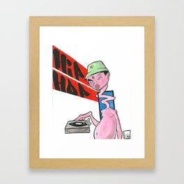 Hip Hop monster Framed Art Print