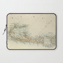Vintage Map of Bermuda (1872) Laptop Sleeve