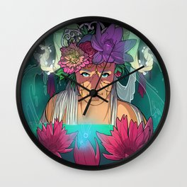Fairy Lotus Wall Clock