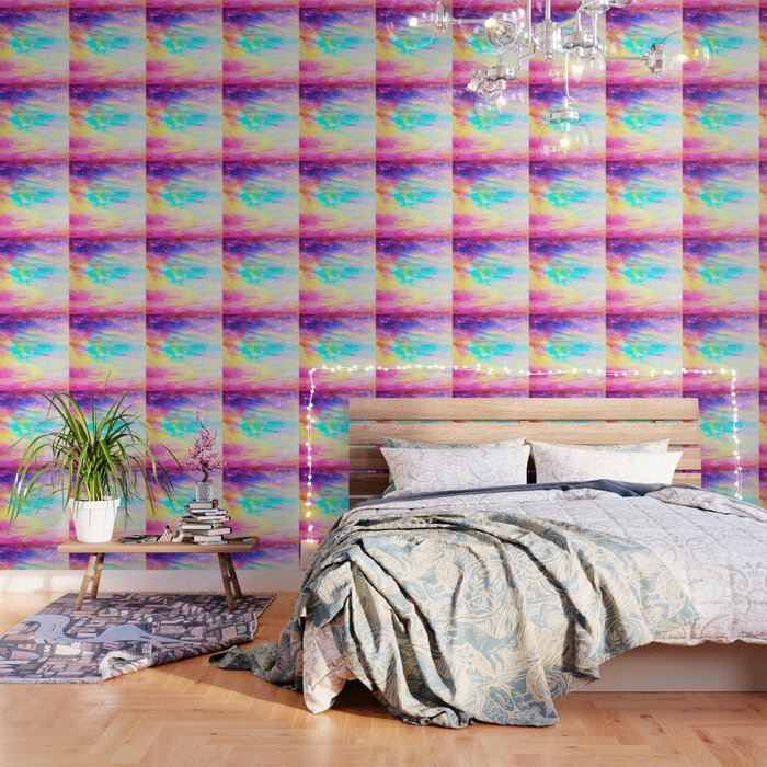 Abstract Galaxy Bright Colorful Wallpaper By Vintageby2sweet