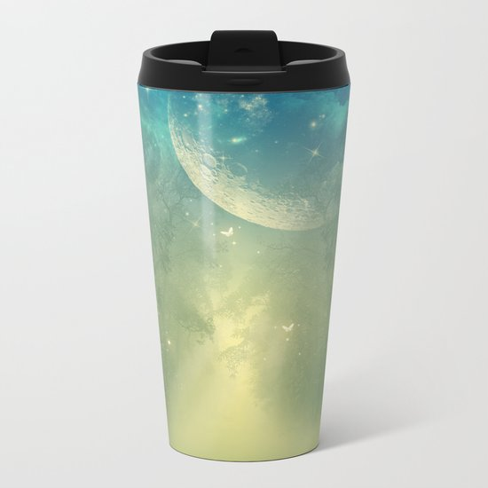 Mystical forest Metal Travel Mug