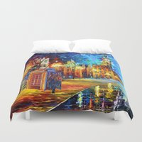 fandom Duvet Covers featuring Sherlock and Big ben starry the night iPhone 4 4s 5 5c 6, pillow case, mugs and tshirt by Three Second