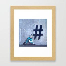 #Hashtag Framed Art Print