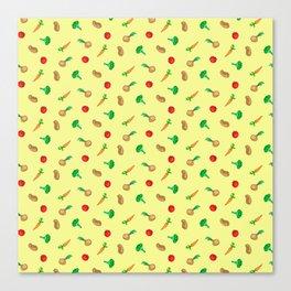 Vegetables pattern Canvas Print