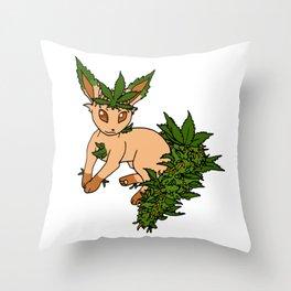 Potleafeon Throw Pillow