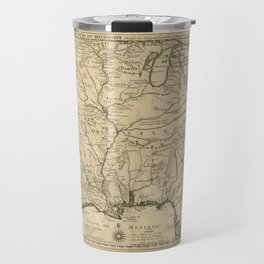 Map of America from Rio Grande River to Hudson River (1718) Travel Mug
