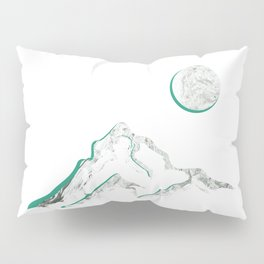 Marble Mountain and Moon Pillow Sham