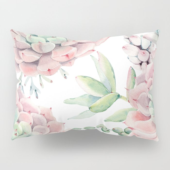 Pink Succulents by Nature Magick Pillow Sham