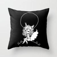 werewolf Throw Pillows featuring ▴ werewolf ▴ by PIXIE ❤︎ PUNK