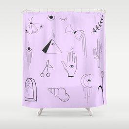 Purple Flash Sheet Shower Curtain