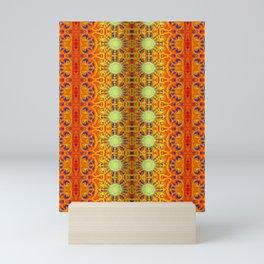 B Bloom Pattern Orange Mini Art Print