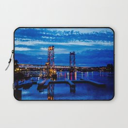 Night Bridge Lights Laptop Sleeve