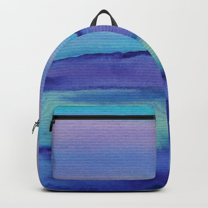 Watercolor abstract landscape 04 Backpack