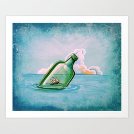 The Messenger - ship at sea Art Print