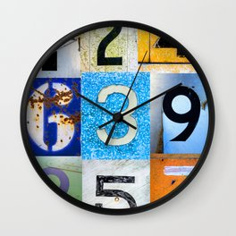 1,2,3,4,5,6,7,8,9 All The Numbers! Wall Clock