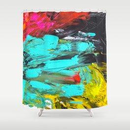 Paint t black VI Shower Curtain