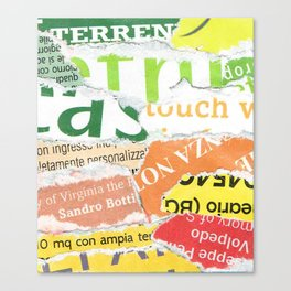 Green to Orange Canvas Print