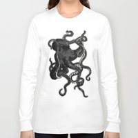 octopus Long Sleeve T-shirts featuring Octopus by Nicklas Gustafsson