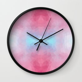 Mozaic design in soft colors Wall Clock