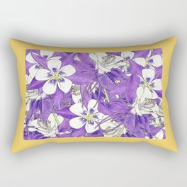 Colorado in Flowers Rectangular Pillow