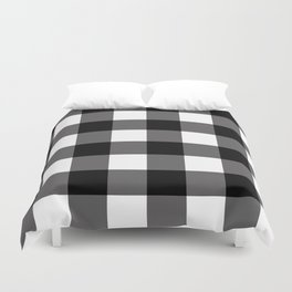 Black & White Buffalo Plaid Duvet Cover