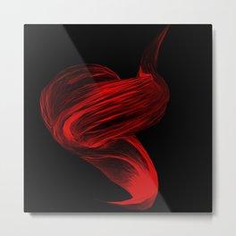 Color Me Red Metal Print