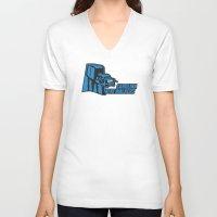 nfl V-neck T-shirts featuring Carolina AtAt Walkers - NFL by Steven Klock