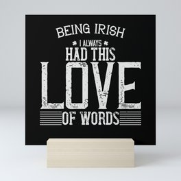 St Paddy - Luck Of The Irish - Quote 05 Mini Art Print