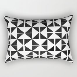 Handmade Triangles Rectangular Pillow