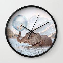 In a Bubble Wall Clock