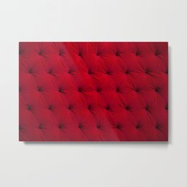 Padded red velvet texture Metal Print