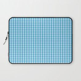 Oktoberfest Bavarian Blue and White Gingham Check Laptop Sleeve