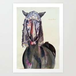 The Pink Horse Art Print