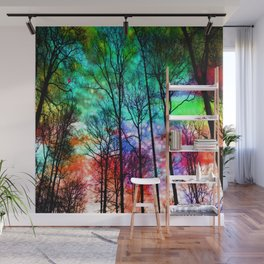 colorful abstract forest Wall Mural