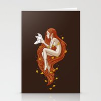 kitsune Stationery Cards featuring Kitsune by Freeminds