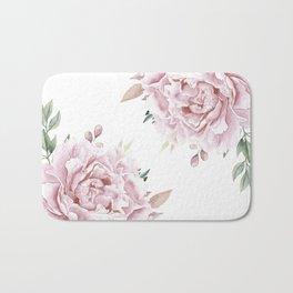 Pink Roses Duet Bath Mat