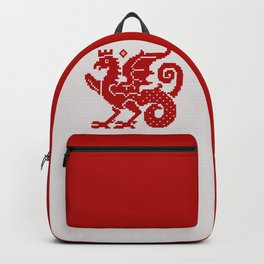 Medieval Red Dragon Backpack