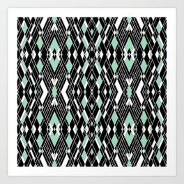 Art Deco Mint Art Print