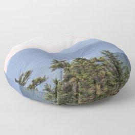 Hazy Mountains Floor Pillow